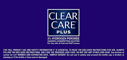 412CNspyUNL - Clear Care Plus Cleaning and Disinfecting Solution with Lens Case, Twin Pack, 12-Ounces Each