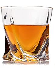 Vogue Whiskey Glasses Luxury Gift Box Set of 4. Lead Free Modern Crystal. Perfect Gift of Whisky Tumblers Glass as a Birthday, Fathers and Mothers day, Christmas present. Money back satisfaction guarantee.