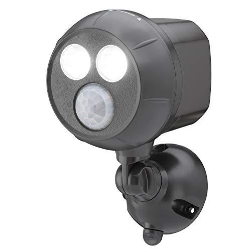 Mr Beams MB390 400-Lumen Weatherproof Wireless Battery Powered LED Ultra Bright Spotlight with Motion Sensor, 1-Pack, Brown 400Lumens
