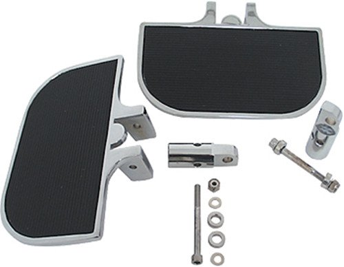 Kit Footboard (V-Factor 25514 Black Universal Mini Footboard Kit Clevis Style Mounting Brackets)