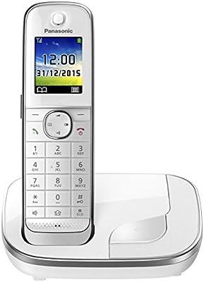 Panasonic KX-TGJ310SPW- Teléfono fijo inalámbrico (LCD color, agenda de 250 números, bloqueo de llamadas, modo ECO Plus, modo No Molestar), color ...
