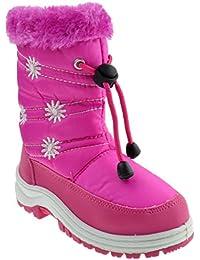 Scarlette 51F Little Kids Snow Pattern Side Flat Boots