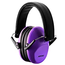 Mpow Kids Earmuffs / Ear Defenders Comfortable Kids Safety Ear Muffs Shooter Hearing Protection with Adjustable Headband Noise Reduction for Professional Soundproofing / Noise Reduction,Shooting Sporting,Races Shopping,Centers Shooting ,Cutting Gardening ,Plant Working for Children, Infants, Small Adults, Women -Purple
