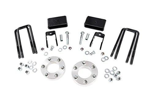 Aluminum Leveling Lift Kit - Rough Country 2-inch Suspension Leveling Lift Kit for Nissan: 16-18 Titan XD 2WD/4WD (Aluminum)