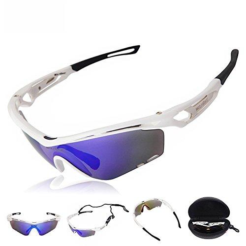 Wolfbike 3 Lenses Polarized BMX MTB Bike Cycling Glasses Hunting Sunglasses Sport Goggles - C9 Sunglasses