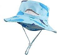 Baby Boy Sun Hat Uv Protection Beach Hat Toddler Wide Brim Chin Strap Adjustable Summer Hat