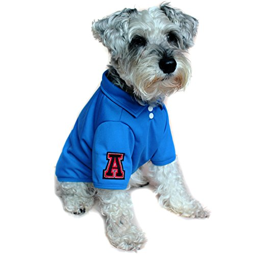 Alfie Pet by Petoga Couture - Fitch Solid Color Polo Shirt - Color: Blue, Size: (Halloween Costumes For Border Collies)