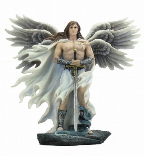 11 Inch Six Winged Guardian Angel Statue With Serpent Figure Catholic Decor by Verones - Religious Angel Figures