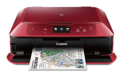 Canon MG7720 Wireless All-In-One Printer with Scanner and Copier: Mobile and Tablet Printing, with Airprint  and Google Cloud Print compatible, Red by Canon