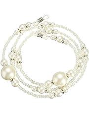 SODIAL 2x White Pearl Beaded Sunglass Eyeglasses Reading Glasses Chain Cord Holder