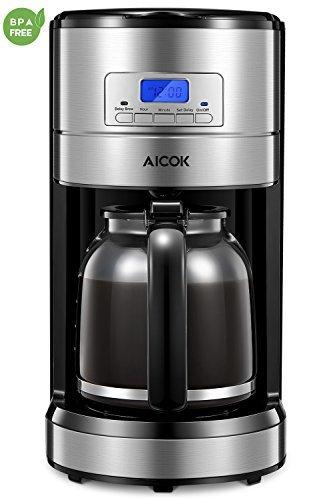 Coffee Maker, Aicok 12 Cup Coffee Maker, Coffee Maker Programmable, Coffee Pot, Coffee Filter, Drip...