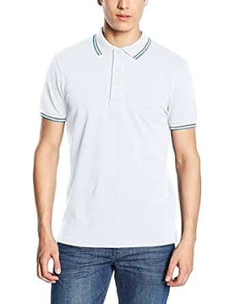 Mick Morrison 11620, Polo para Hombre, Blanco, Small