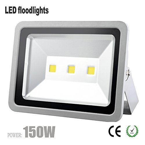 W-lite 150W COB Super Bright Led Flood Light Outdoor Waterproof IP66 Security Lamp 13500LM for Small Stadium Street Bridge Road Square Yard-6000K