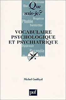 Vocabulaire psychologique et psychiatrique par Godfryd