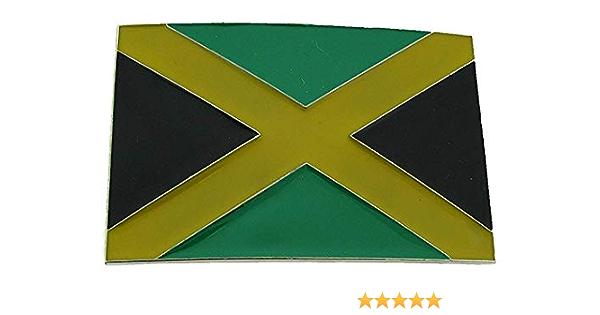 Hebilla de la bandera de Jamaica, Reggae, Caribe, Ron, hebilla