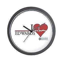 CafePress-I Heart Edwards Greys Anatomy-Wall Clock