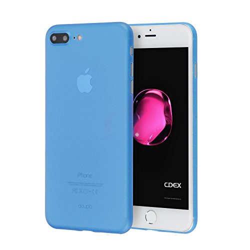 doupi UltraSlim Case for iPhone 8/7 Plus (5.5 inch) Fine Matte Feather Light Skin Protective Cover - Blue