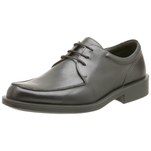 - ECCO Men's New City Light Apron Toe Oxford,Black,41 EU (US Men's 7-7.5 M)