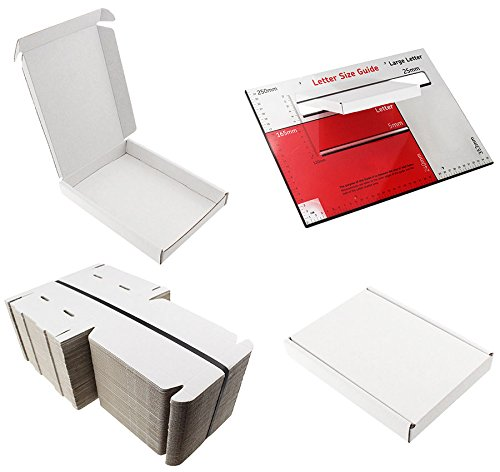 """50 x WHITE C6 A6 SIZE BOX LARGE LETTER STRONG CARDBOARD SHIPPING MAILING POSTAL PIP ☆ SIZE 16cm x 12cm x 2.2cm ☆ 6.5"""" x…"""