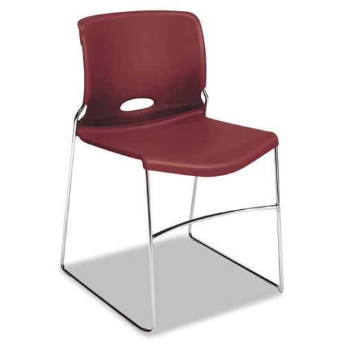 HON Olson Series Stacker Chair, 4 Per Carton, Mulberry (Hon Olson Stacker)