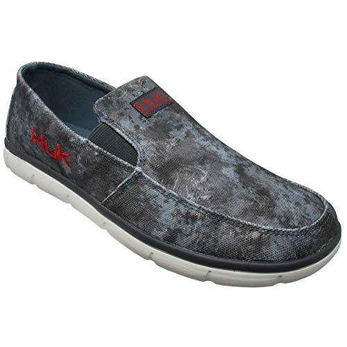 Huk Men's Brewster SubPhantis Loafer Shoes, SubPhantis Glacier, Size 12