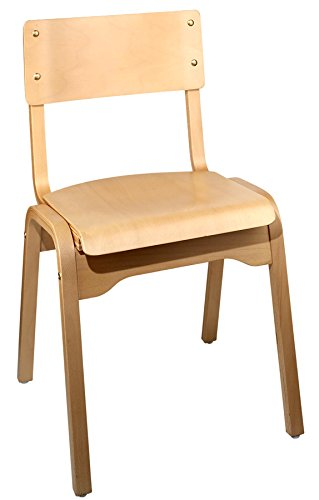 Holsag Carlo Stacking Wood Chair Natural Finish  sc 1 st  Amazon.com & Amazon.com: Holsag Carlo Stacking Wood Chair Natural Finish ...