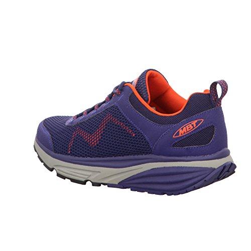 MBT Lacets à Bleu Homme Blue Chaussures Ville Purple de Orange Pour qgSwPqRx