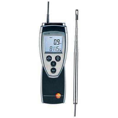 Testo 425 Compact Digital Hot-Wire Anemometer, 0 to 20 m/s Velocity, -20 to +70° C Temperature