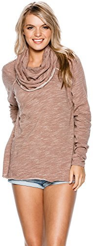 New Free People Women's Beach Cotton Cocoon Cowl Pullover Cotton Pu Pink from Free People