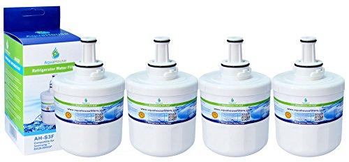 4x AH-S3F filtro de agua compatibles para Samsung nevera DA29-00003F, HAFIN1/EXP, DA97-06317A-B, Aqua-Pure Plus, DA29-00003A, DA29-000