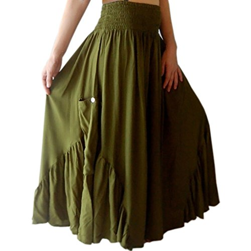 Falda Vestido de volantes bolsillo Gorgeous Sweeping hecho a la orden [Q455] verde caqui Small