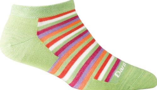 Darn Tough Portland No Show Light Cushion Sock - Women's Lime Small DISCONTINUED