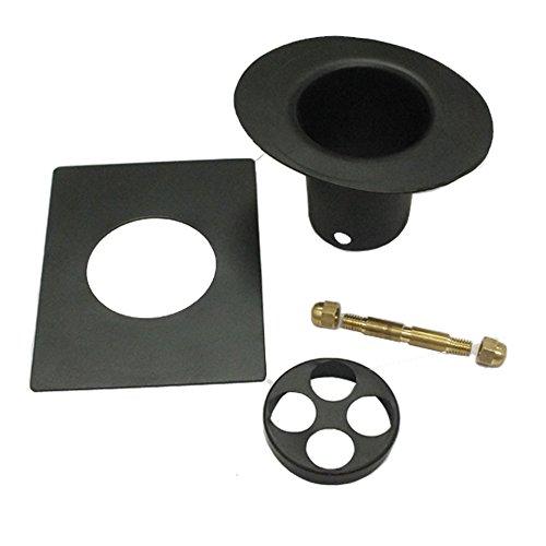 Monarch Aluminum 3-Piece Rain Chain Installation Kit Black Power -