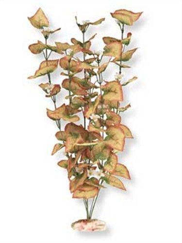Vibran-Sea Flowering Marsh Wood Silk-Style Aquarium Plant, Extra-Large 18-19 tall, Burnt Orange by Blue Ribbon
