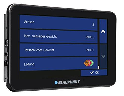 Blaupunkt TravelPilot 74 Truck EU LMU -  LKW Navigationssystem mit 17,5 cm (7 Zoll) Display, Bluetooth Freisprecheinrichtung, Kartenmaterial Europa, lebenslange Karten-Updates*, TMC Stauumfahrung, Fahrspurassistent