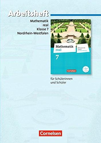 Mathematik real - Differenzierende Ausgabe Nordrhein-Westfalen: 7. Schuljahr - Arbeitsheft mit eingelegten Lösungen