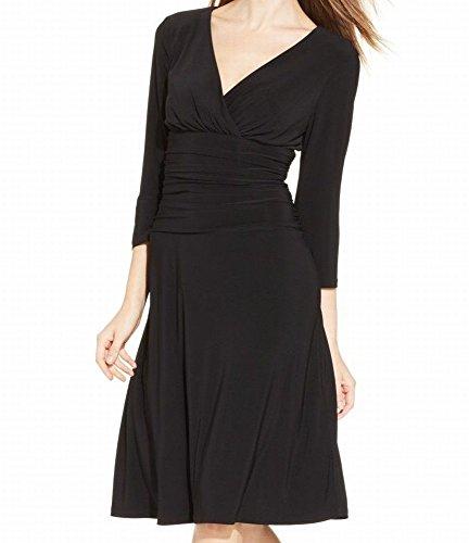 Ruched Little Black Dress - 4