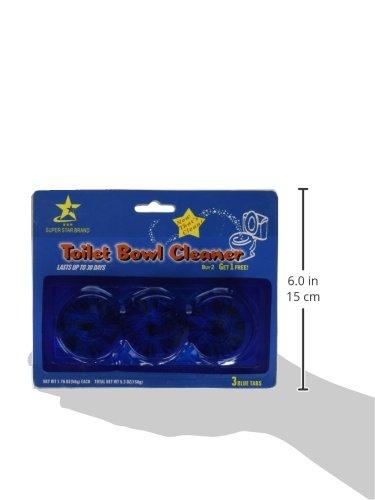 Toilet Bowl Cleaner Sanitizer 3 Blue Tablets (2 Packs) &