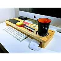 Personalized desk organizer, Docking Station, Keyboard Rack, Desktop Shelf, Office & Home Organizer, Multi Use Desk Organizer, Mens Desk Caddy