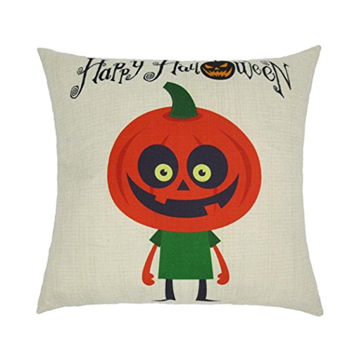 Happy Halloween's Gift Pillow Cases Linen Cartoon Colorful Printed Sofa Cushion Cover Home Decor18