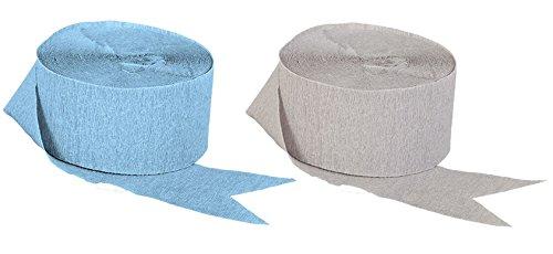 crepe paper light blue - 6
