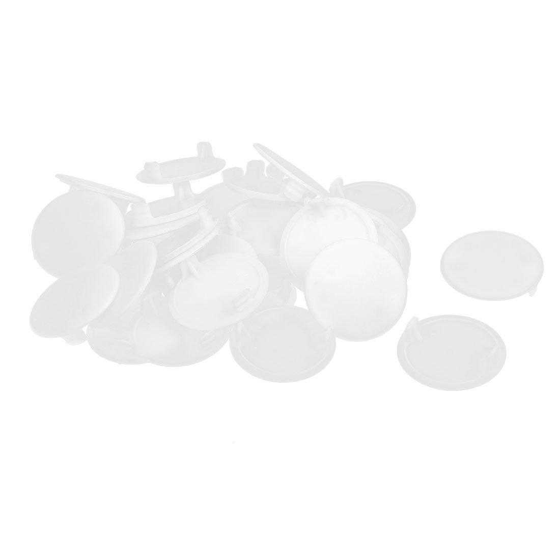 sourcingmap 38mm Dia poussi/ère plast bouchon vis couvercle trou Beige couvre 30pcs
