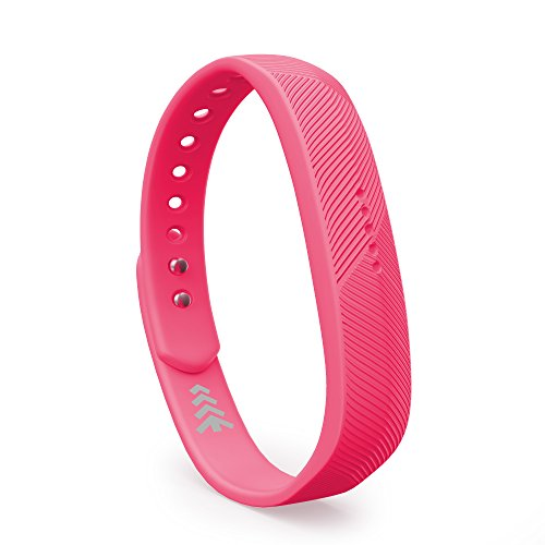 Teak Necklace - Teak - Silicone Sport Replacement Band for Fitbit Flex 2 - Large, Pink