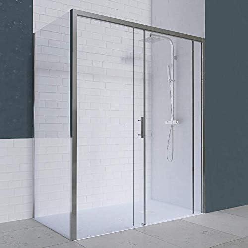 UneSalleDeBain - Mampara de Ducha Transparente PMR de ángulo de 6 mm, 120 x 90 cm: Amazon.es: Hogar