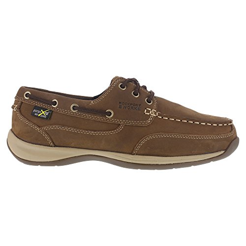 Bison Rockport Mens Shoe Brown Club Sailing and Work Construction RK6734 Industrial ggUpS