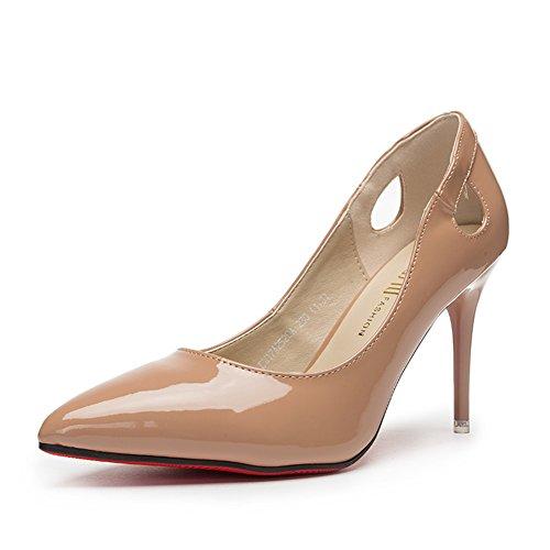 Damen High Heels,Schuhe mit Einem Spitzen Fuß-B Fußlänge=21.8CM(8.6Inch)