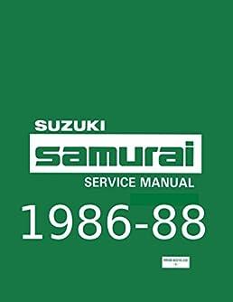suzuki samurai factory service and repair shop manual 1986 1987 rh amazon com suzuki samurai manual steering gear box suzuki samurai manual download