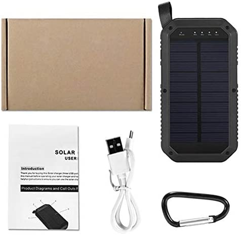 Lanterna Outdoor 8000mAh 21 LED Portable Solar Powered luce di campeggio 3 USB Banca mobile di potere for Android, facile da controllare.