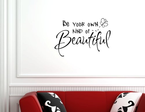 Amazon.com: BE YOUR OWN KIND OF BEAUTIFUL 0082 Vinyl Wall Lettering  Stickers Quotes And Saying...: Home Improvement