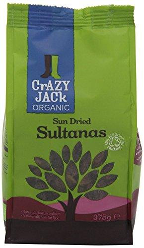 Crazy Jack Organic Sun Dried Sultanas 375G